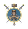 Coat of Arms Shield with Swords vector image