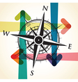 compass arrows vector image