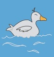 duck swimming vector image
