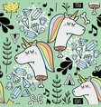 Endless background with dead unicorn vector image