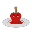 isolated caramel apple vector image