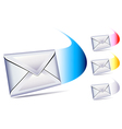 Letter sent and arriving vector image