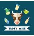 Natural dairy products vector image