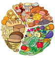 Protein Carbohydrate Diet vector image