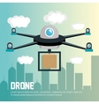 delivery drone remote graphic vector image