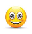 emoji smiling grey eyes vector image vector image