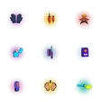 Investigation icons set pop-art style vector image