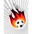 fire ball vector image vector image