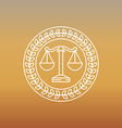 juridical and legal logo and sign vector image vector image