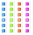 Bookmarks with System Icons in Four Colors vector image