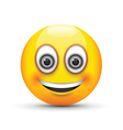 emoji smiling grey eyes vector image
