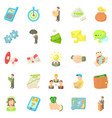 employee of the bank icons set cartoon style vector image
