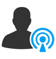 podcast creator flat icon vector image