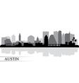 Austin city skyline silhouette background vector image