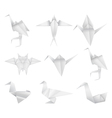 Origami birds set vector image