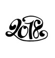 2018 lettering vector image