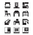Various types of furniture vector image vector image