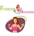Fitness and Nutrition vector image vector image