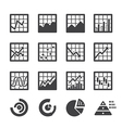 graph icon set vector image vector image