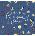 Let s have a great summer vector image