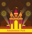 Castle Amusement Park Carnival Fun Fair vector image