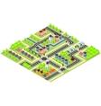 City Isometric map vector image