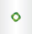 eco green gradient logo business symbol vector image