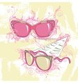Fashion of two sunglasses vector image
