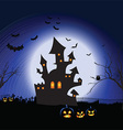 halloween spooky landscape 1409 vector image