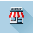 Icon of stylish shop with awning vector image
