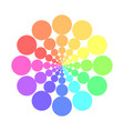 partly transparent rainbow spectrum color circles vector image