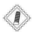 pisa tower building vector image