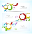 Set of banners with colorful hexagons vector image