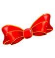 silk bow vector image