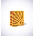 yellow shopping bag vector image