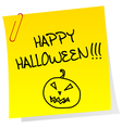 Sheet of paper with Happy Halloween message vector image vector image
