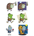 Halloween Characters- Collection vector image