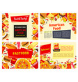 fast food restaurant menu template design vector image