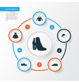 garment icons set collection of sarafan elegant vector image