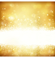 Golden glowing Christmas background vector image vector image