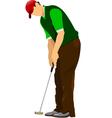 al 1005 golfer 02 vector image