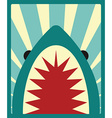 Shark poster vector image vector image