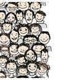 Seamless pattern with people crowd for your design vector image vector image