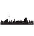 Berlin Germany skyline Detailed silhouette vector image vector image