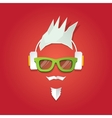 Christmas hipster greeting card vector image