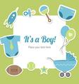 Baby boy shower design vector image