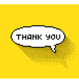 bubble with thank you vector image