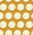 Dumplings seamless pattern Russian national food vector image