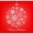 hanging Christmas ball made vector image