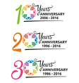 hospital anniversary colorful symbol vector image